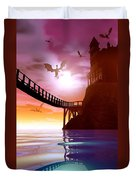 Dragon Manor Duvet Cover by Cynthia Decker