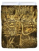 dragon pattern Duvet Cover by Setsiri Silapasuwanchai