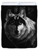 Dragon Wolf Duvet Cover by Stanley Morrison