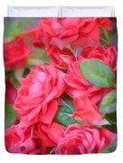 Dreamy Red Roses - Digital Art Duvet Cover by Carol Groenen
