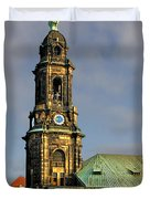 Dresden Kreuzkirche - Church of the Holy Cross Duvet Cover by Christine Till