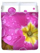 Drops Upon Raindrops 3 Duvet Cover by Carol Groenen