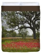 Drummonds Phlox Meadow Near Leming Texas Duvet Cover by Tim Fitzharris