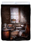 Dry Cleaner - Put You Through The Wringer  Duvet Cover by Mike Savad