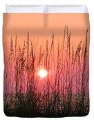 Dune Grass Sunset Duvet Cover by Bill Cannon