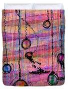Dunking Ornaments Duvet Cover by Rachel Christine Nowicki