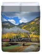 Durango-silverton Twin Bridges Duvet Cover by Inge Johnsson