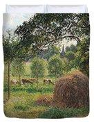 Dusk at Eragny Duvet Cover by Camille Pissarro