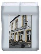 Dutch Cafe - Digital Duvet Cover by Carol Groenen