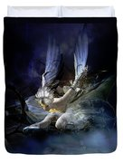 Dying Swan Duvet Cover by Mary Hood
