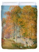 Early October Duvet Cover by Willard Leroy Metcalf