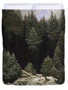 Early Snow Duvet Cover by Caspar David Friedrich