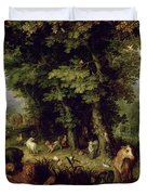 Earth or The Earthly Paradise Duvet Cover by Jan the Elder Brueghel