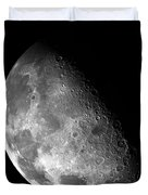 Earth's Moon In Black And White Duvet Cover by The  Vault - Jennifer Rondinelli Reilly