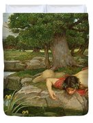Echo and Narcissus Duvet Cover by John William Waterhouse