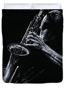 Eclectic Sax Duvet Cover by Richard Young