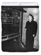 Einstein At Princeton University Duvet Cover by Science Source