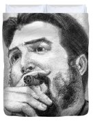 El Che Duvet Cover by Roberto Valdes Sanchez