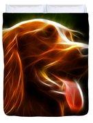 Electrifying Dog Portrait Duvet Cover by Pamela Johnson