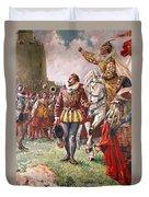 Elizabeth I The Warrior Queen Duvet Cover by CL Doughty