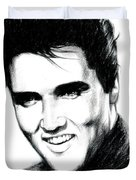 Elvis Duvet Cover by Lin Petershagen