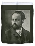 Emile Zola, French Author Duvet Cover by Photo Researchers