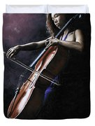 Emotional Cellist Duvet Cover by Richard Young