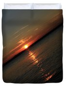 End Of An Off Balance Day Duvet Cover by Karol  Livote