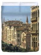 Entrance To The Grand Canal Looking West Duvet Cover by Canaletto