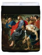 Entry Of Christ Into Jerusalem Duvet Cover by Sir Anthony van Dyke