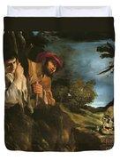 Et In Arcadia Ego Duvet Cover by Giovanni Francesco Barbieri