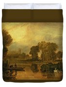Eton College From The River Duvet Cover by Joseph Mallord William Turner