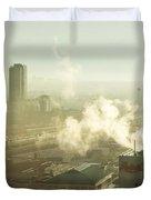 Evanescent Light On Fog Duvet Cover by Lisa Knechtel
