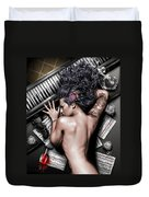 Ex Dono Dei Duvet Cover by Pete Tapang
