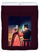 Execution Of Mary Queen Of Scots Duvet Cover by English School