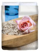 Exfoliating Body Scrub From Sea Salt And Rose Petals Duvet Cover by Frank Tschakert