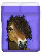 Exmoor Pony  Duvet Cover by Leanne Wilkes
