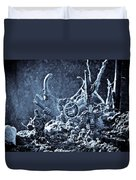 Facing The Enemy II Duvet Cover by Marc Garrido