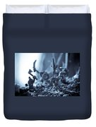 Facing The Enemy Duvet Cover by Marc Garrido