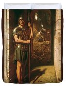 Faithful Unto Death Duvet Cover by Sir Edward John Poynter