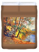 Fall In Bear Mountain Duvet Cover by Ylli Haruni
