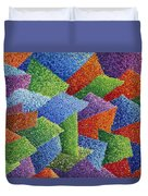 Fall Leaves On Grass Duvet Cover by Sean Corcoran