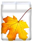 Fall maple leaf Duvet Cover by Elena Elisseeva