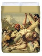 Fall On The Way To Calvary Duvet Cover by G Tiepolo