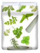 Falling Herbs Duvet Cover by Amanda And Christopher Elwell