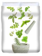 Falling Herbs Duvet Cover by Amanda Elwell