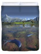 Fanged Enchodus Predatory Fish Duvet Cover by Walter Myers
