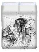 Fantasy Drawing 3 Duvet Cover by Svetlana Novikova