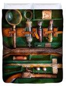 Fantasy - Emergency Vampire Kit  Duvet Cover by Mike Savad