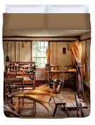 Fantasy - In The Witches Workshop Duvet Cover by Mike Savad